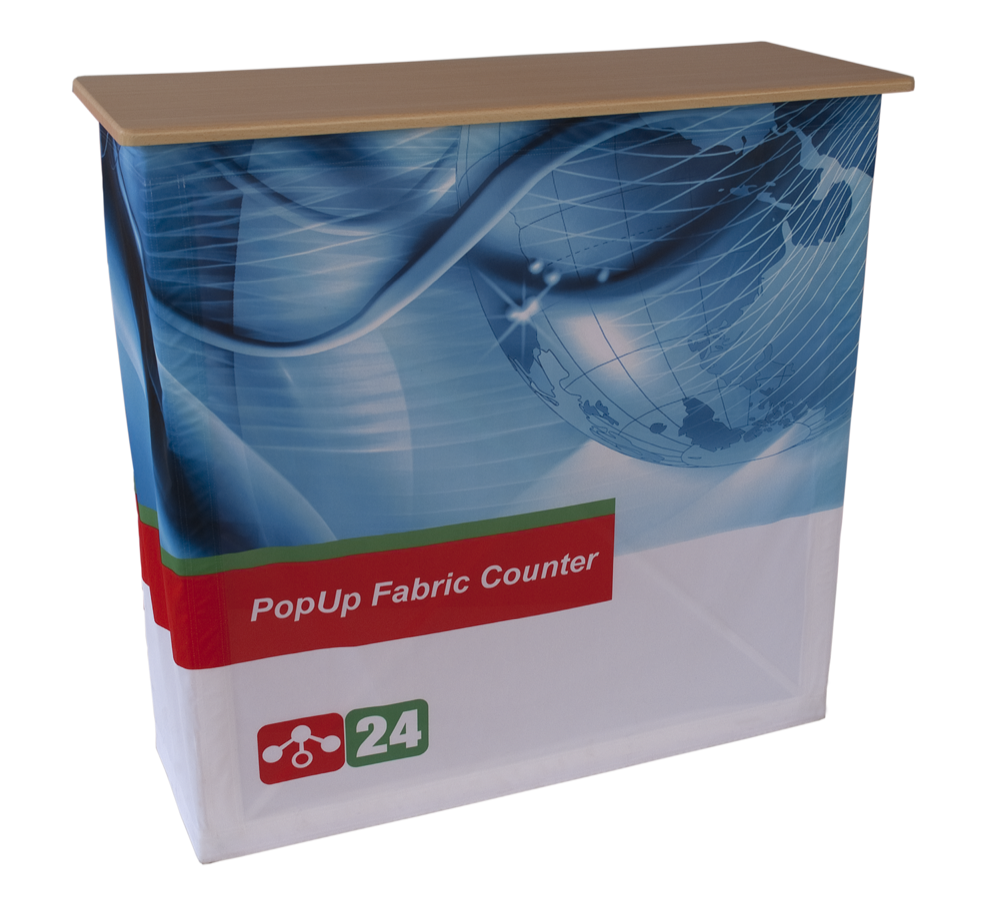 Pop-Up Fabric Counter